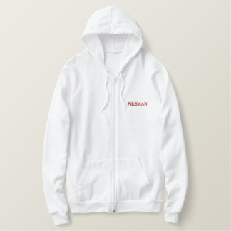 FIREMAN EMBROIDERED HOODIE