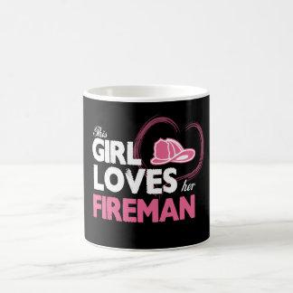 Fireman Lover Basic White Mug