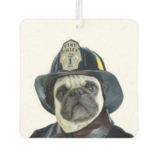 Fireman pug dog air freshener