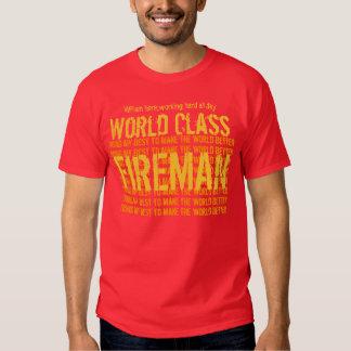 FIREMAN World Class Custom Name and Sentiment V01 T-shirt