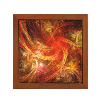 Firestorm Nova Abstract Art Desk Organiser