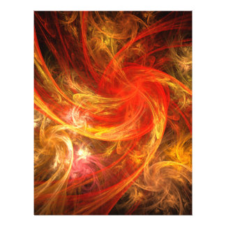 Firestorm Nova Abstract Art Flyer