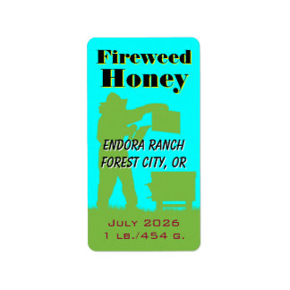 Fireweed Honey Personalized Beekeeper Address Label
