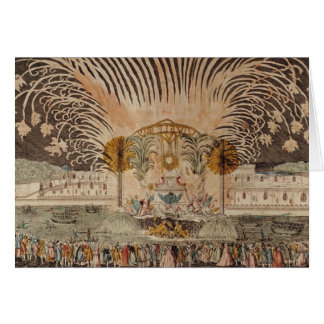 Firework Display in the Place Louis XV Card