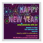 Fireworks Celebration for New Years Eve Party Card