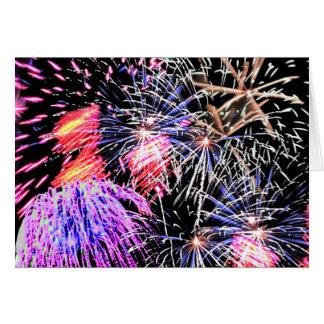 Fireworks Display Card
