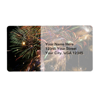 Fireworks Display Shipping Label