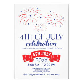 FIREWORKS FOURTH OF JULY CELEBRATION CARD