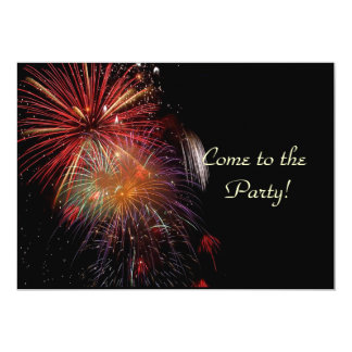 Fireworks New Years Eve Party Invitation Cards