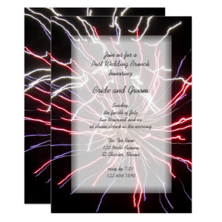 Fireworks Post Wedding Brunch Invitation