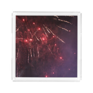 Fireworks Small Serving Tray
