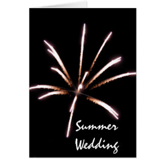 Fireworks Summer Wedding Save the Date Card