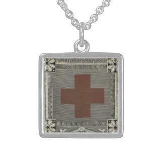 First Aid Society Certificate Sterling Silver Necklace