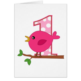 First Birthday Birdie Card