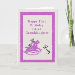 First Birthday Card For Great Granddaughter Granddaughters Gifts On Zazzle Nz