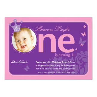 FIRST BIRTHDAY PARTY INVITES :: number one 3