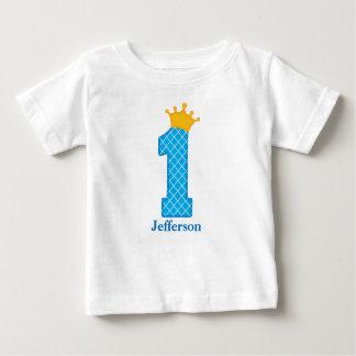 First Birthday Prince Tshirt Personalised