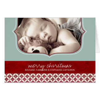 First Christmas Photo Greeting Card