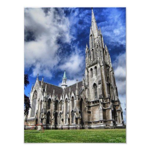 First Church HDR, Dunedin, New Zealand Photographic Print