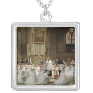 First Communion, 1867 Silver Plated Necklace