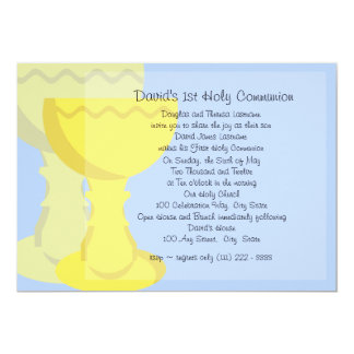 First Communion Chalice 13 Cm X 18 Cm Invitation Card