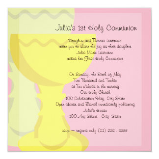 First Communion Chalice Card