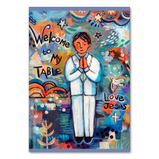 First Communion Customisable Prayer Card for boys