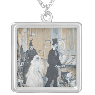 First Communion Day, 1888 Silver Plated Necklace