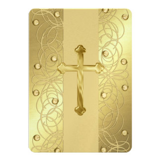"First Communion ""Embossed"" Cross Card"
