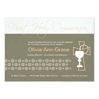 First Communion - Girl Card