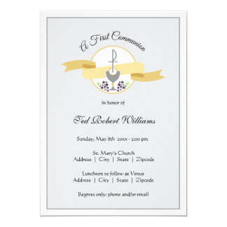 First Communion Invitation - Boy