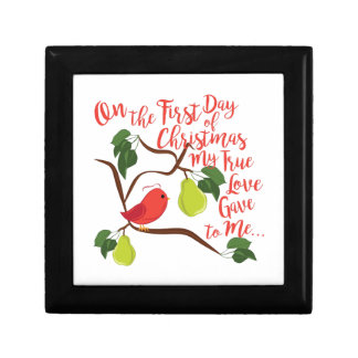 First Day Christmas Small Square Gift Box