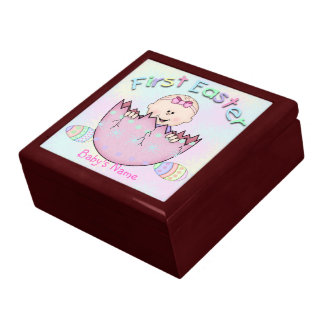 Babys keepsake easter gifts t shirts art posters other gift first easter baby girl gift boxtrinket box negle Images