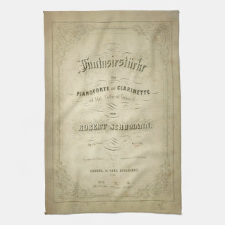 First Edition Vintage Sheet Music Cover Hand Towel