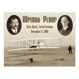 First flight of the 1903 Wright Flyer Postcard