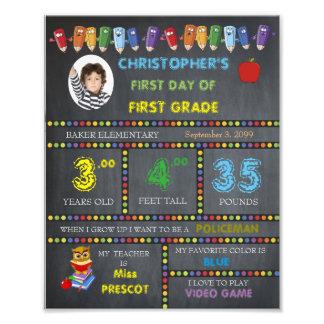 FIRST GRADE Sign Boy,low price,PHOTO,8x10 Photo Art