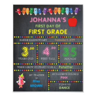 First Grade Sign Girl,low price,Chalkboard,8x10 Photo Print