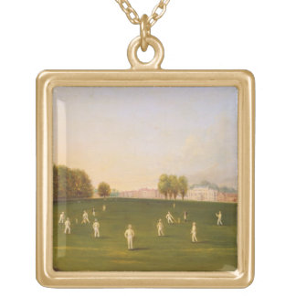 First Grand Match of cricket played by members of Gold Plated Necklace