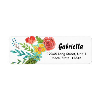 First Holy Communion Flower    Address Labels
