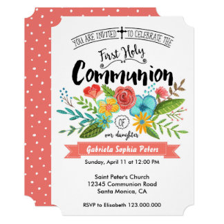 First Holy Communion Flowers   Invitations