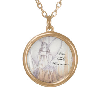 First Holy Communion Gold Plated Necklace