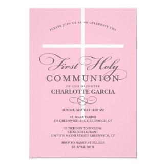 First Holy Communion Invitation Blue
