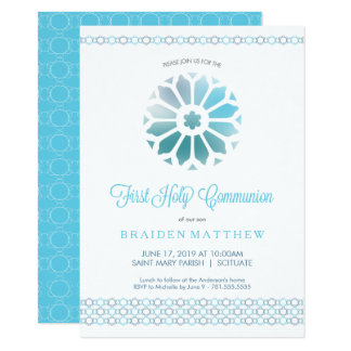 First Holy Communion Invitation Boys Trendy Invite
