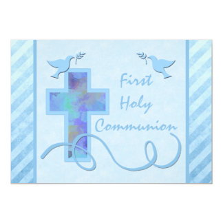 First Holy Communion Invitation for a Boy