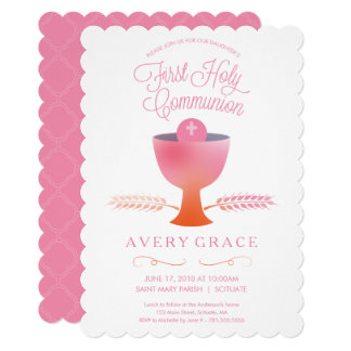 First Holy Communion Invitation - Girl's Invite