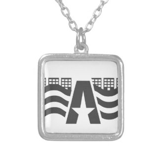 First Letter Name - A City Landscape With Star Silver Plated Necklace