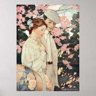First Love by Jessie Willcox Smith Poster