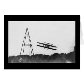 First Military Plane Flight, Orville Wright 1909 Card