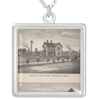 First National Bank, Kansas Silver Plated Necklace