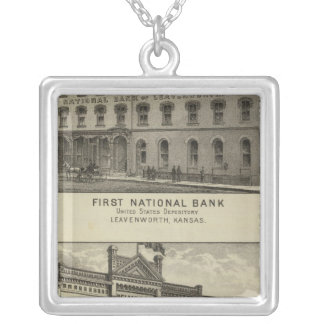 First National Bank Silver Plated Necklace